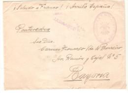 Carta  Con Censura Militar Jadraque Y 2ª Bandera De FET De Las Jons De Soria. - 1931-Today: 2nd Rep - ... Juan Carlos I