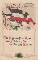 AK Der Segen Unserer Ahnen Rauscht Durch Die Deutschen Fahnen Gel. Bippen 17.4.16 - Weltkrieg 1914-18
