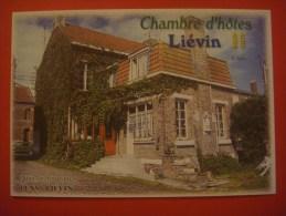 Chambres D'hôtes ( Liévin / Pas De Calais ) Pas Carte Postale,feuillet Publicitaire épais Format Carte Postale - Lievin