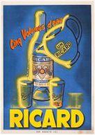 Postcard - Poster Reproduction - Cinq Volumes D´eau Ricard 1948 - Publicité