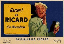 Postcard - Poster Reproduction - Garcon Un Ricard Á La Marseillaise 1939 - Publicité