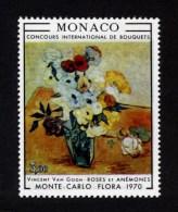 MONACO - 1970 VAN GOGH MONTE CARLO FLOWER SHOW STAMP FINE MNH ** SG984 - Monaco