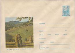 APUSENI MOUNTAINS- GHETAR VILLAGE, COVER STATIONERY, ENTIER POSTAL, 1969, ROMANIA - Enteros Postales