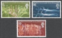 Great Britain. 1970 Ninth British Commonwealth Games. MH Complete Set. SG 832-834 - 1952-.... (Elizabeth II)