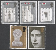 Great Britain. 1969 Investiture Of HRH The Prince Of Wales. MH Complete Set SG 802-806 - 1952-.... (Elizabeth II)