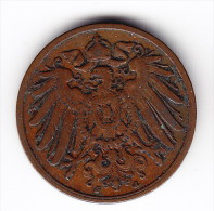 1906 Germany 2 Pfennig Coin - [ 2] 1871-1918 : German Empire