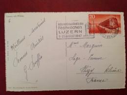 LUZERN Festwochen Musikalische August 1947 Sur Cpa Mit Pilatus - Suisse