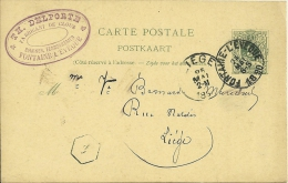 Belgique 1890 Fontaine-l'Evèque >> Liège / Cachet Privé / Clous - Postwaardestukken