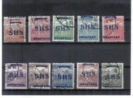 OPK354  JUGOSLAWIEN 1916/18 MICHL NR  66/75 Used / Gestempelt ZÄHNUNG SIEHE ABBILDUNG - 1919-1929 Kingdom Of Serbs, Croats And Slovenes