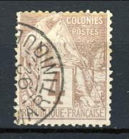 Colonie Francesi, Emissioni Generali 1881 N. 48 C. 4 Lilla Bruno Su Grigio Usato, Annullo Martinique - Alphee Dubois