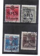 OPK356  JUGOSLAWIEN 1918 MICHL NR  84/87 Used / Gestempelt ZÄHNUNG SIEHE ABBILDUNG - 1919-1929 Kingdom Of Serbs, Croats And Slovenes