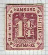 HAMBURG N° 8 NEUF * REIMPRESSION - Hamburg
