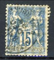 Colonie Francesi, Emissioni Generali 1881 N. 51 C. 15 Azzurro Usato Annullo Da Decifrare - Alphee Dubois