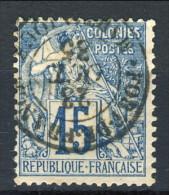 Colonie Francesi, Emissioni Generali 1881 N. 51 C. 15 Azzurro Usato Annullo Fort De France (Martinique) - Alphee Dubois