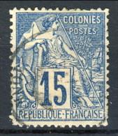 Colonie Francesi, Emissioni Generali 1881 N. 51 C. 15 Azzurro Usato Annullo Hanoi (Tonkin) - Alphee Dubois