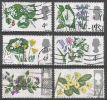 Great Britain. 1967 British Wild Flowers. Used Complete Set. SG 717-722 - 1952-.... (Elizabeth II)