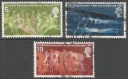 Great Britain. 1970 Ninth British Commonwealth Games. Used Complete Set. SG 832-834 - 1952-.... (Elizabeth II)
