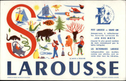 BUVARDS - LAROUSSE - LETTRE S - - Buvards, Protège-cahiers Illustrés