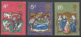 Great Britain. 1970 Christmas. Used Complete Set. SG 838-840 - Used Stamps