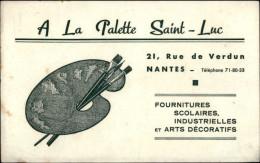 BUVARDS - PAPETERIE - A LA PALETTE SAINT-LUC à NANTES - Rue De Verdun - Papel Secante