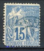 Colonie Francesi, Emissioni Generali 1881 N. 51 C. 15 Azzurro Usato Annullo Papeete Oceanie - Alphee Dubois