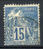 Colonie Francesi, Emissioni Generali 1881 N. 51 C. 15 Azzurro Usato Annullo Martinique - Alphee Dubois