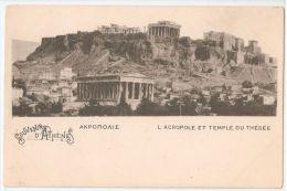 GREECE - SOUVENIR D' ATHENES / ATHENS - L'ACROPOLE ET TEMPLE DU THESEE - 1900s - Griechenland