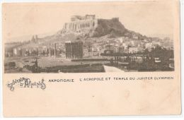 GREECE - ATHENS - L'ACROPOLE ET TEMPLE DU JUPITER OLYMPIEN - 1900s - Griechenland