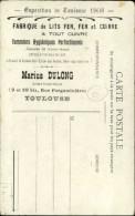 31 - TOULOUSE - Carte Publicitaire Pour Fabrique De Lits Et Sommiers à TOULOUSE - Pavots - Expo De Toulouse 1908 - Toulouse