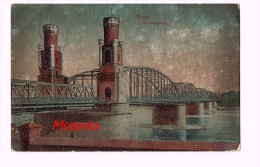 Thorn - Torun-Eisenbahnbrücke-1917 -Pologne-Poland - Pologne