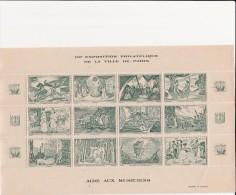 VIGNETTES - AIDE AUX MUSICIENS VILLE DE PARIS -FEUILLET DE 12 VIGNETTES COULEUR VERTE - - Commemorative Labels