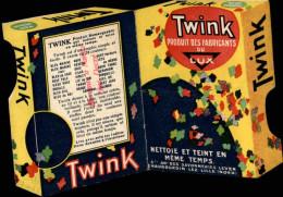 PUBLICITES - Petit Carton Publicitaire - TWINK Fabricants LUX - Lessive Et Teinture - Publicités