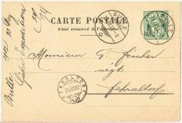 AMB-L103 - SUISSE Avis De Réception De Marchandises Des Chemins De Fer Jura-Simplon  De Bulle Pour Fehraltorf 1902 - Railway