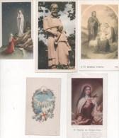 Image Pieuse - Lot De 5 Images Religieuse -