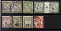 P-187: FRANCE: Lot Taxes Obl + Mill 6 NSG 2ème Choix - 1859-1955 Storia Postale