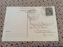 Luxembourg Carte Reponse Wiltz 1951 - Stamped Stationery