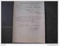 F 88 CONTREXEVILLE Epicerie Mercerie OUDOT Et URBAIN 1914 - Textile & Vestimentaire
