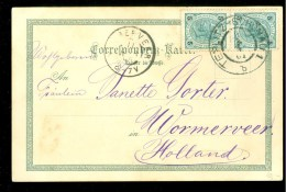 POSTHISTORIE * HANDGESCHREVEN BRIEFKAART  Uit 1901 Gelopen Van BAD Teplitz-Schönau Naar WORMERVEER (10.120g) - Tchécoslovaquie