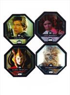 Carte Leclerc 2015 Star Wars N°1 Leia N°2 Solo N°3 Chewbacca N° 4 Padmé - Episode I