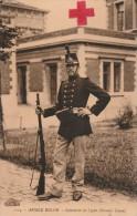 Rood-Kruis/Armée Belge Kaart Begin VIII/14 Van Schaerbeek Naar Arlon. - WW I