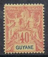 GUYANE N°39 N**  Fournier - Guyane Française (1886-1949)