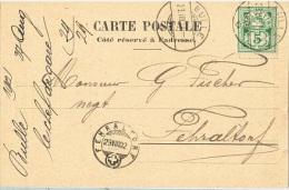AMB-L109 - SUISSE Avis De Réception De Marchandises Des Chemins De Fer Jura-Simplon De Bulle Pour Fehraltorf 1902 - Railway