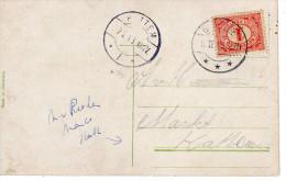 Lange Balk Arabische Maand GLANERBRUG Op Ansicht Naar Hattem - Poststempels/ Marcofilie