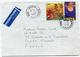 NOUVELLE-CALEDONIE LETTRE DEPART PAITA 1-3-2005 POUR LA FRANCE - Neukaledonien