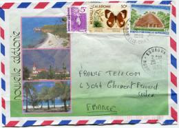 NOUVELLE-CALEDONIE LETTRE PAR AVION DEPART KOUAOUA 25-6-1990 POUR LA FRANCE - Cartas