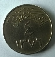 Monnaie - Arabie Saoudite - 4 GIRSH - 1376 - 1956 - TTB - - Arabie Saoudite