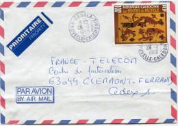NOUVELLE-CALEDONIE LETTRE PAR AVION DEPART CANALA 29-4-1998 POUR LA FRANCE - Cartas