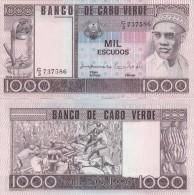 Cape Verde / Cabo Verde - 1000 Escudos 1977 AUNC Lemberg-Zp - Cap Verde