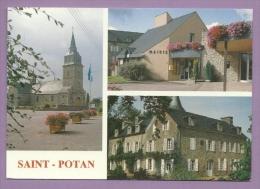 673- CPM - 22 - SAINT-POTAN Près De MATIGNON, DINAN - Multivue : Un Des 17 Manoirs, Eglise, Mairie - Scans Recto-verso - Autres Communes