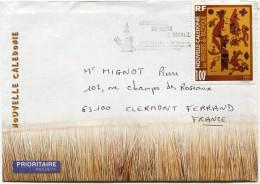 NOUVELLE-CALEDONIE LETTRE DEPART BOURAIL ?-8-1998 POUR LA FRANCE - Cartas
